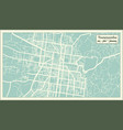 toowoomba australia city map in retro style vector image