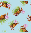tropical summer pattern of beach vacation design vector image vector image