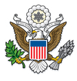 US Great Seal Bald Eagle vector image vector image