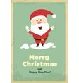 Vintage cute Santa Claus vector image vector image