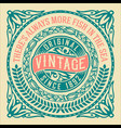vintage label with floral elements vector image vector image