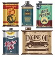 vintage set car and transportation products vector image vector image