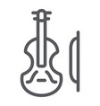 violin line icon music and instrument cello sign vector image vector image