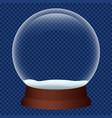 xmas snowglobe icon realistic style vector image vector image