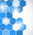 Abstract background hexagon vector image
