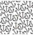 pattern silhouette anchor design set vector image