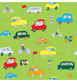 Kid in the car seamless pattern vector image