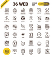 Web universal pixel perfect line icons vector image
