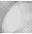 abstract gray circles background with halftone vector image vector image