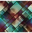 Abstract matrix pattern on geometric background vector image