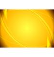 Abstract yellow wavy pattern vector image vector image