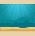 background - underwater ocean scene vector image
