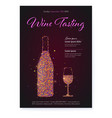 banner for wine tasting events color glittering vector image vector image