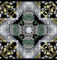 baroque seamless pattern greek key vector image vector image