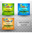 beautiful summer template background collections vector image vector image