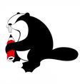 Beaver original silhouette vector image