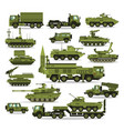 big set military equipment heavy reservations vector image