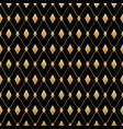 black and gold diamond seamless pattern vector image vector image