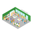 clothing store interior with furniture isometric vector image vector image