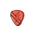 color rock emblem with thunder symbol design vector image vector image