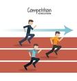 Competitive icon design vector image