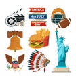 culture objects of americans usa vector image vector image