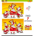 differences game with santa claus group vector image vector image