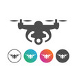 drone aerial photography icon symbol design set vector image