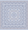 elegant square light blue abstract pattern vector image vector image