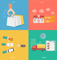 element buy sale payment and delivery concept vector image