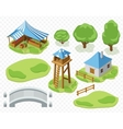 elements of settlement vector image