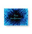 festive invitation with neon light vector image vector image