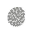 finger print icon line hand id symbol vector image vector image