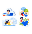 flat design concepts education vector image vector image