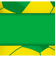 football brazil panel background vector image vector image