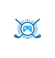 game golf logo icon design vector image