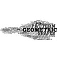 geometric word cloud concept vector image vector image