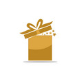 gift box ribbon template blank vector image