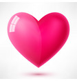 glossy heart with reflection vector image