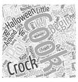 Halloween Cooking Ideas Word Cloud Concept vector image vector image