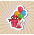 Happy birthday and gift design vector image vector image