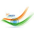 happy indian republic day creative flag design vector image vector image