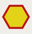 hexagon icon vector image