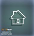 House icon symbol on the blue-green abstract vector image