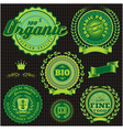 icons emblems environmentally pure nutrition vector image vector image