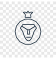 lion of judah concept linear icon isolated on vector image