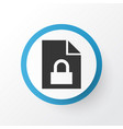 locked icon symbol premium quality isolated vector image vector image