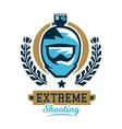 logo cycling helmet and a camera extreme shooting vector image vector image