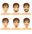 man with different beard styles vector image vector image