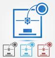 Minimal 3d printer icon vector image vector image